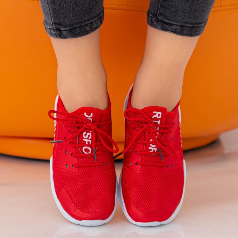 Pantofi Sport Dama E230 Red Fashion