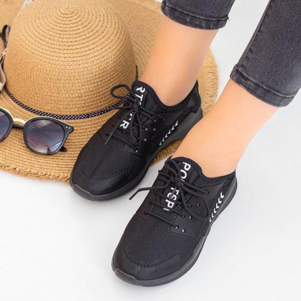 Pantofi Sport Dama E230 All Black Fashion