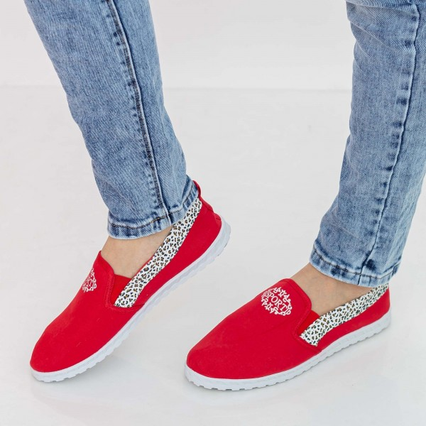 Espadrile Barbati E3 Red Fashion