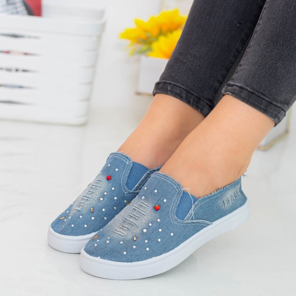 Espadrile Dama E40 Light Blue Fashion