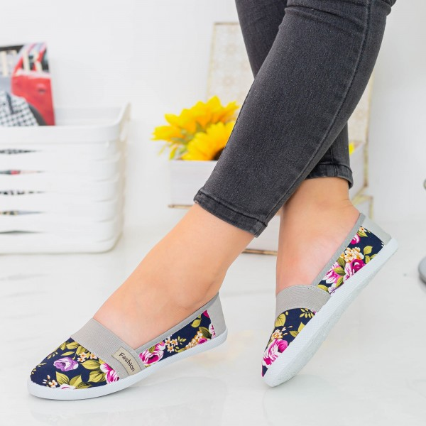 Espadrile Dama E8 Navy Fashion