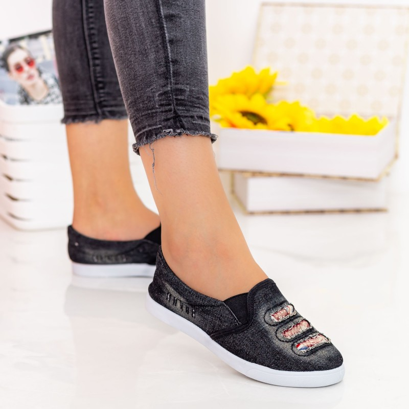 Espadrile Dama H889 Black Fashion