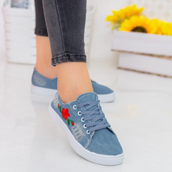 Tenisi Dama E56 Light Blue Fashion
