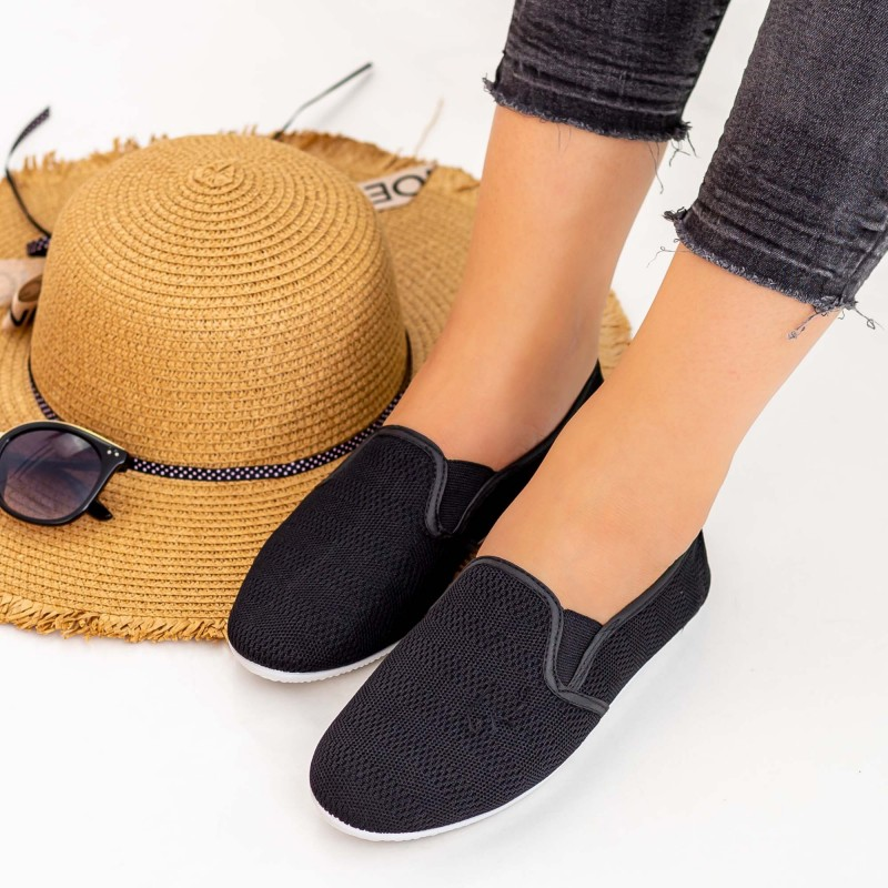Espadrile Dama H12 Black Fashion