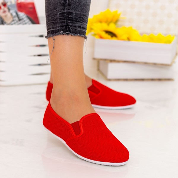 Espadrile Dama H12 Red Fashion