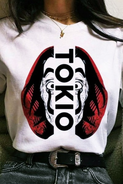 "Tricou Dama ""TOKIO"" 8990 Alb Adrom"