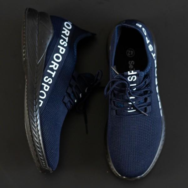 Pantofi Sport Barbati D806 Black-Blue Se7en
