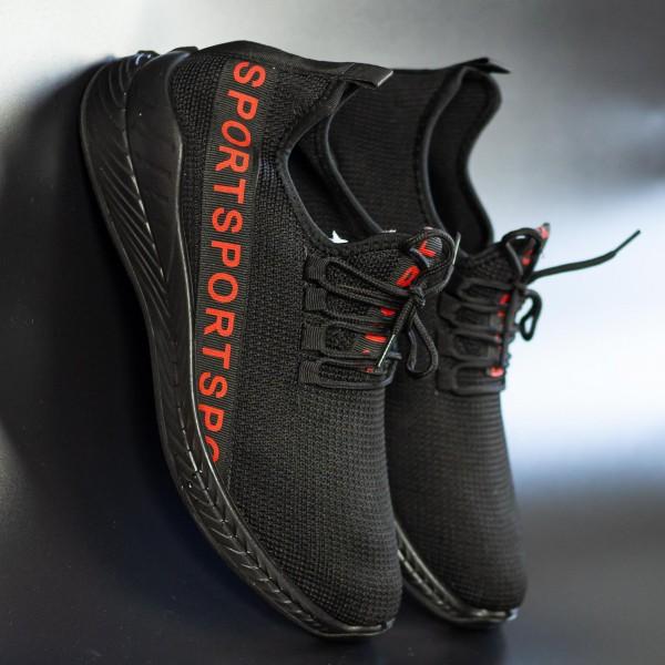 Pantofi Sport Barbati D806 Black-Red Se7en