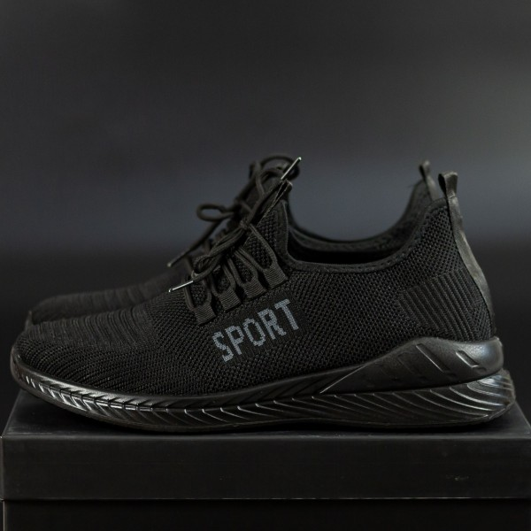 Pantofi Sport Barbati D810 Black-Grey Se7en