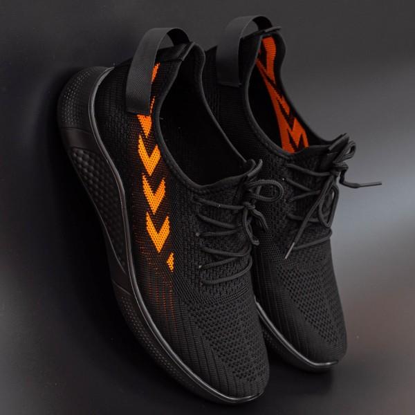 Pantofi Sport Barbati D821 Black-Orange Se7en