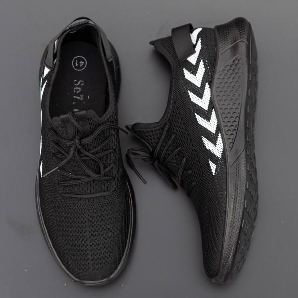 Pantofi Sport Barbati D821 Black-White Se7en