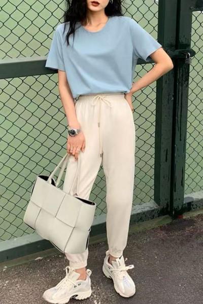 Pantaloni Trening Dama 4093 Alb Fashion