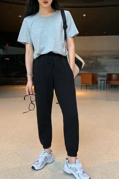 Pantaloni Trening Dama 4093 Negru Fashion