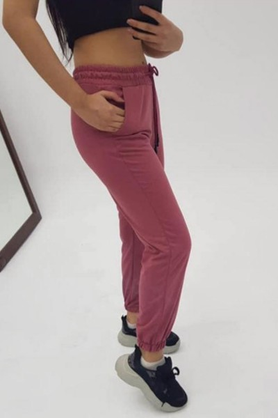 Pantaloni Trening Dama 4093 Grena Fashion
