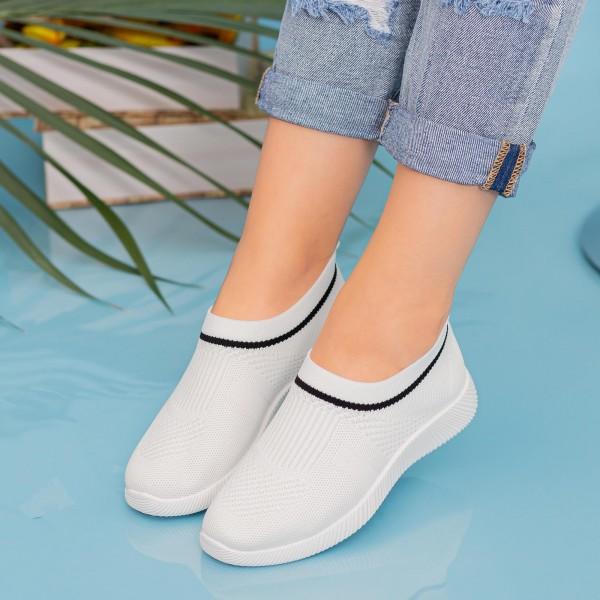 Pantofi Sport Dama MD8809 White Alina