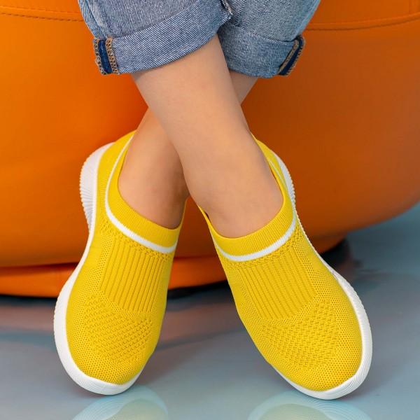 Pantofi Sport Dama MD8809 Yellow Alina