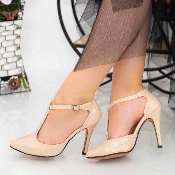 Pantofi cu Toc subtire OLMD5 Nude Mei