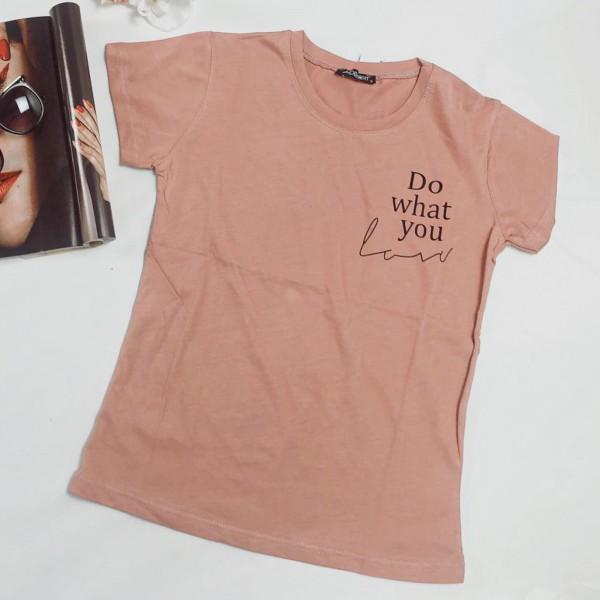 Tricou Dama Do what you love 8918 Roz Mei