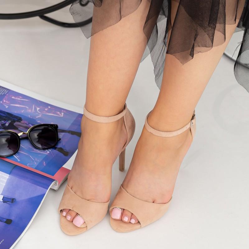 Sandale Dama cu Toc subtire GH1962 Pink Mei
