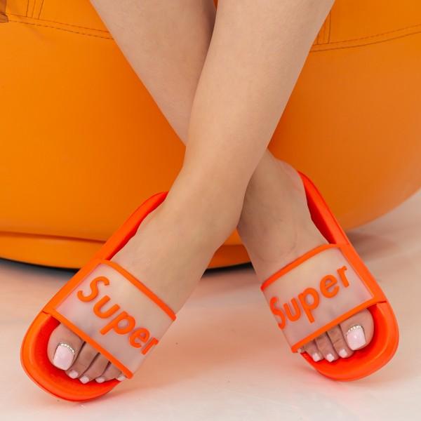 Papuci Dama 1001 Orange CityKiddy