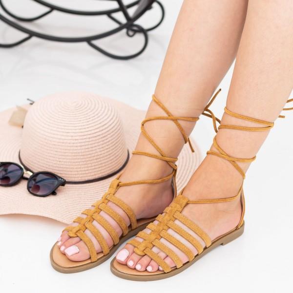 Sandale Dama CZLS2 Camel Mei